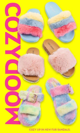 Cozy Up in New Fur Sandals from Shiekh