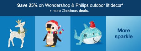Save 25% on Wondershop & Philips Outdoor Lit Decor from Target