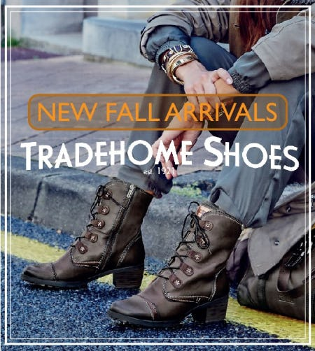 Fall Sales Event from Tradehome Shoes