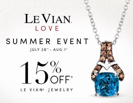 15% Off Le Vian Jewelry