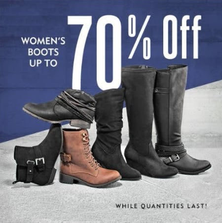 Women's Boots up to 70% Off