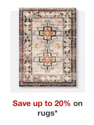 Up to 20% Off Rugs from Target