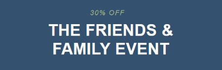 30% Off The Friends & Family Event from The Levi's Store