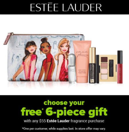 Free 6-Piece Gift with Any $55 Estee Lauder Fragrance Purchase from Belk