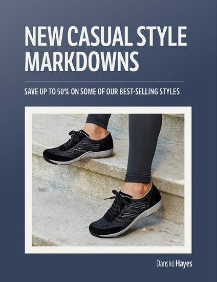 New Casual Style Markdowns from THE WALKING COMPANY