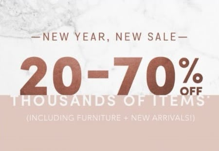 20–70% Off Thousands of Items