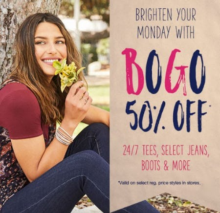 BOGO 50% Off from maurices