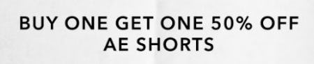 Buy One, Get One 50% Off AE Shorts from American Eagle Outfitters