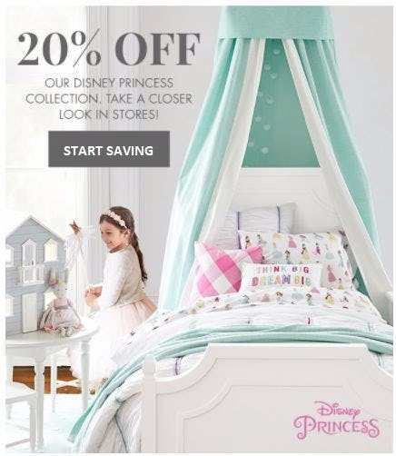 20% Off Our Disney Princess Collection