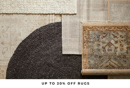 Up to 20% Off Rugs from Pottery Barn