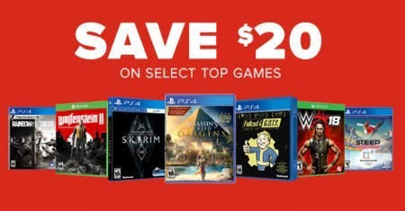 $20 Off Select Top Games