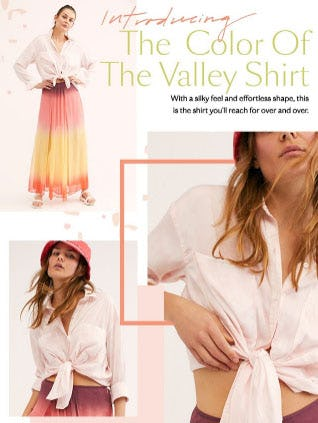 Introducing The Color of The Valley Shirt from Free People