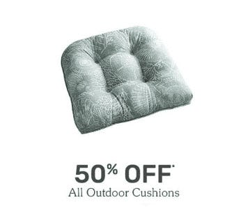 50% Off All Outdoor Cushions from Pier 1 Imports