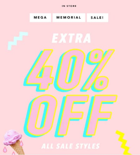 Extra 40% Off Mega Memorial Sale from A'gaci