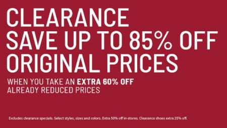 Extra 60% Off Clearance from Jos. A. Bank