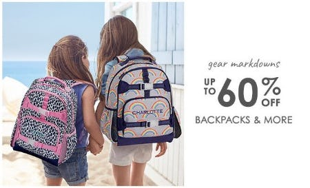 Up to 60% Off Backpacks & More from Pottery Barn Kids