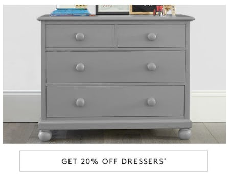 20% Off Dressers from Pottery Barn Kids