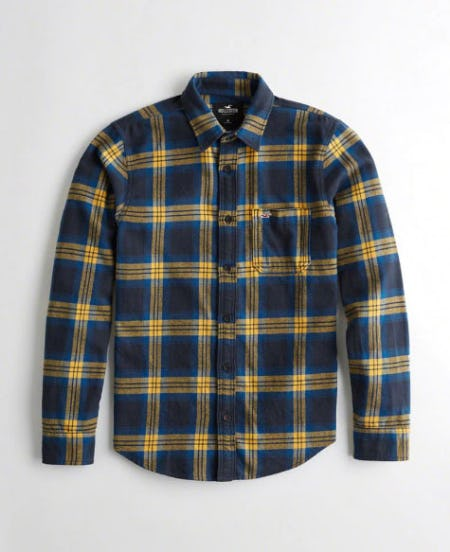 Plaid Flannel Slim Fit Shirt from Hollister Co.