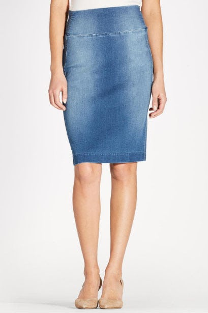 Pull On Denim Skirt