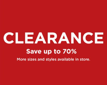 Clearance Save Up to 70% from Kohl's