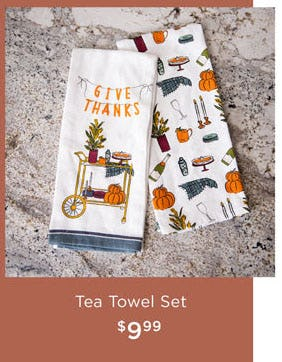 Tea Towel Set $9.99 from Kirkland's