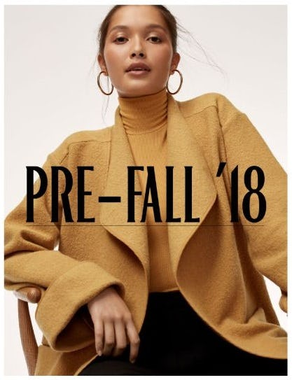 Pre-Fall: The First Hints of the New Season from Aritzia