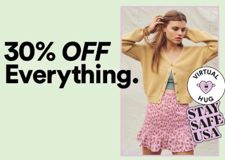 30% Off Everything from Cotton On