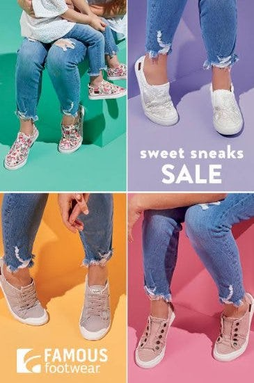 Sweet Sneaks Starting at $39.99 from Famous Footwear