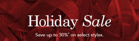 Up to 30% Off Holiday Sale