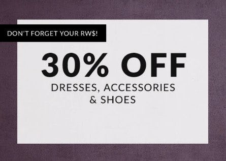 30% Off Dresses, Accessories & Shoes from Lane Bryant