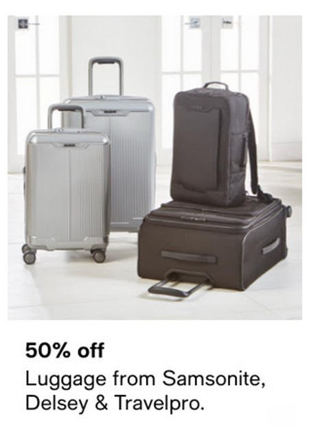 50% Off Luggage From Samsonite, Delsey & Travelpro from macy's