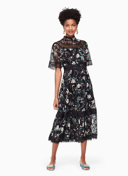 Botanical Chiffon Midi Dress from kate spade new york