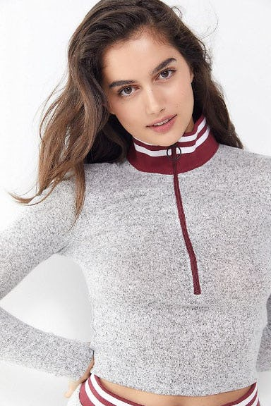 Out From Under Zoie Half-Zip Turtleneck Top from Urban Outfitters
