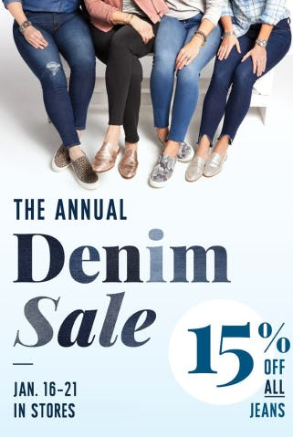 The Annual Denim Sale 15% Off from Evereve