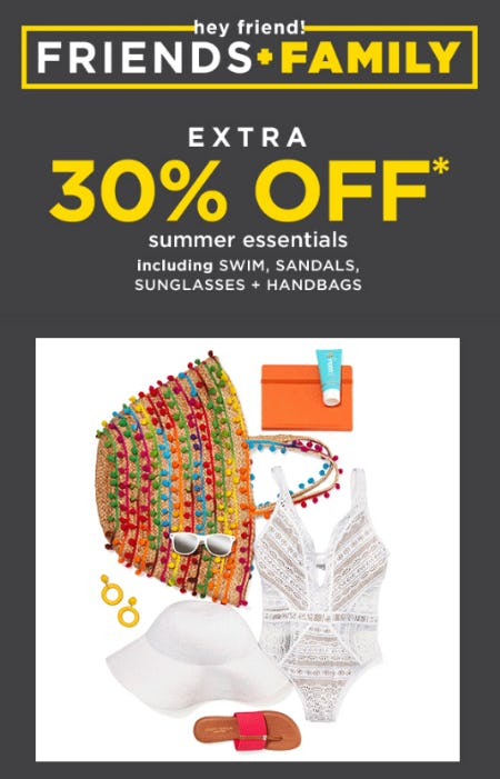 Extra 30% Off Summer Essentials