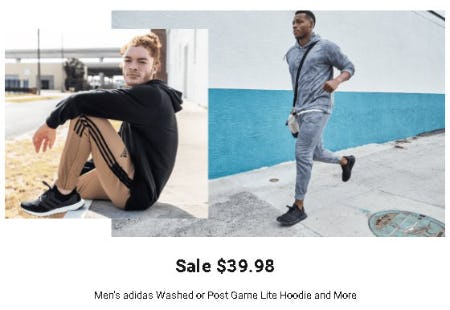 $39.98 Men's adidas Washed or Post Game Life Hoodie and More from Dick's Sporting Goods
