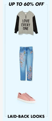 Up to 60% Off Laid-Back Looks