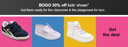 BOGO 50% Off Kids' Shoes from Target