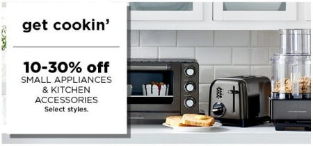 10–30% Off Small Appliances & Kitchen Accessories from Kohl's