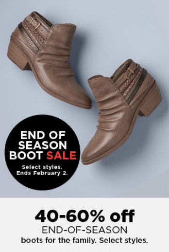 40-60% Off End of Season Boot Sale from Kohl's