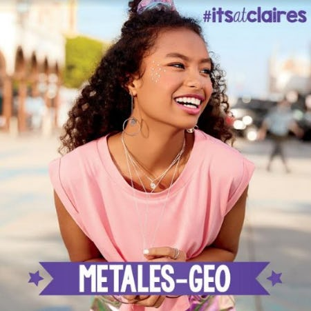 What's Hot, Geo-Metals! from Claire's