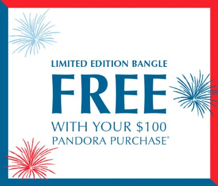 Free Bangle with $100 Purchase from PANDORA