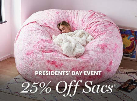 President's Day Event from Lovesac Designed For Life Furniture Co