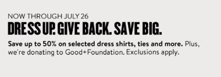 Save up to 50% on Selected Dress Shirts, Ties and More from Nordstrom