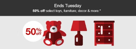 50% Off Select Toys, Furniture, Decor & More from Target