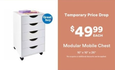 $49.99 Each Modular Mobile Chest from Michaels