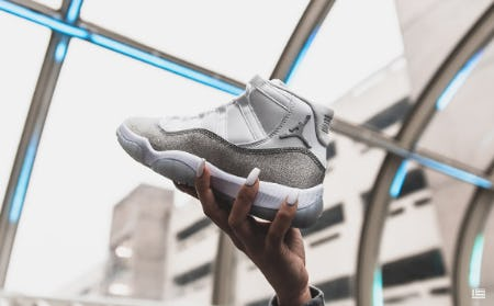 "The Air Jordan Retro 11 ""Metallic Silver"" from DTLR"