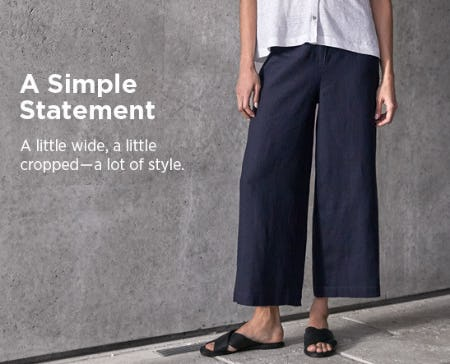 Shop Our Great Pants from Eileen Fisher