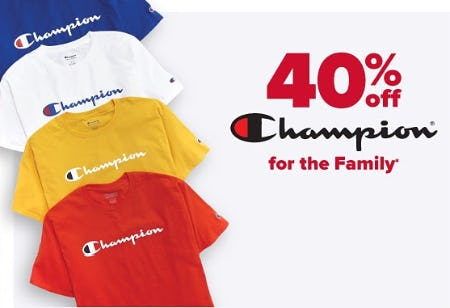 40% Off Champion from Belk