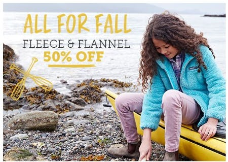 50% Off Fleece and Flannel for Boys and Girls from Eddie Bauer